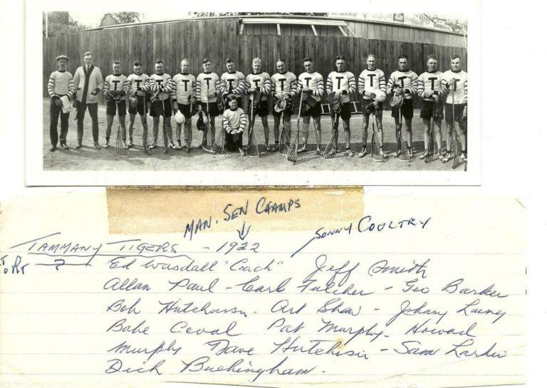1922 Tammany Tigers_MB Senior Champions